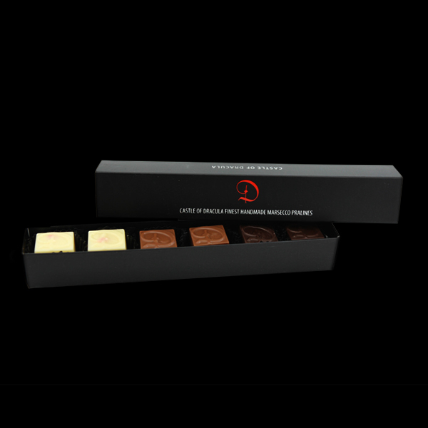Pralinenkreation 6er Box 50 g - MHD: 28.02.2020
